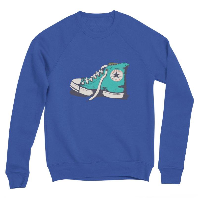 Conversation Aqua Men's Sweatshirt by Alex's Shop