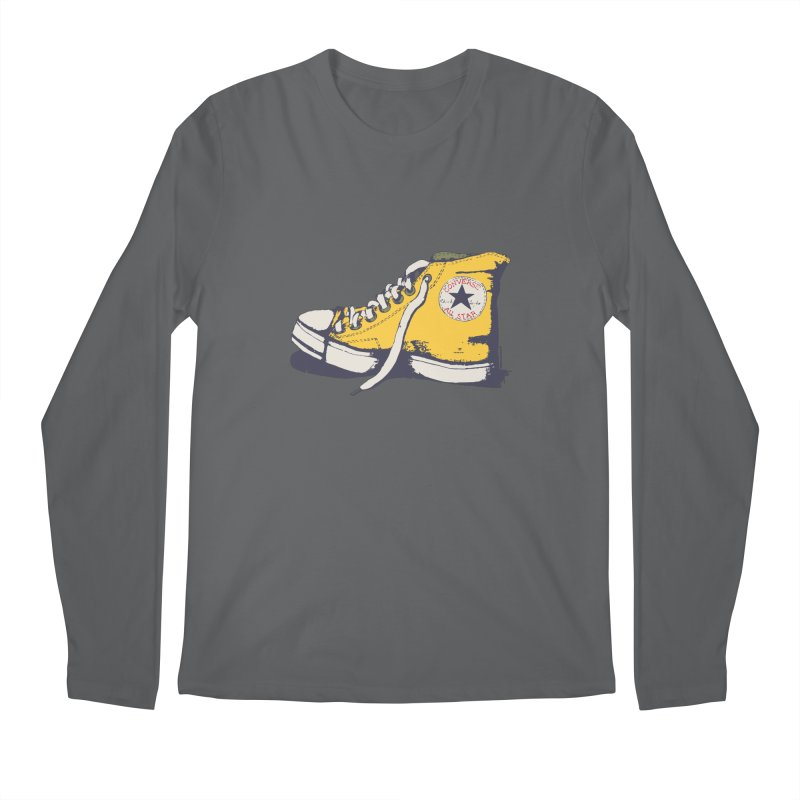 Conversation Yellow Men's Longsleeve T-Shirt by Alex's Shop