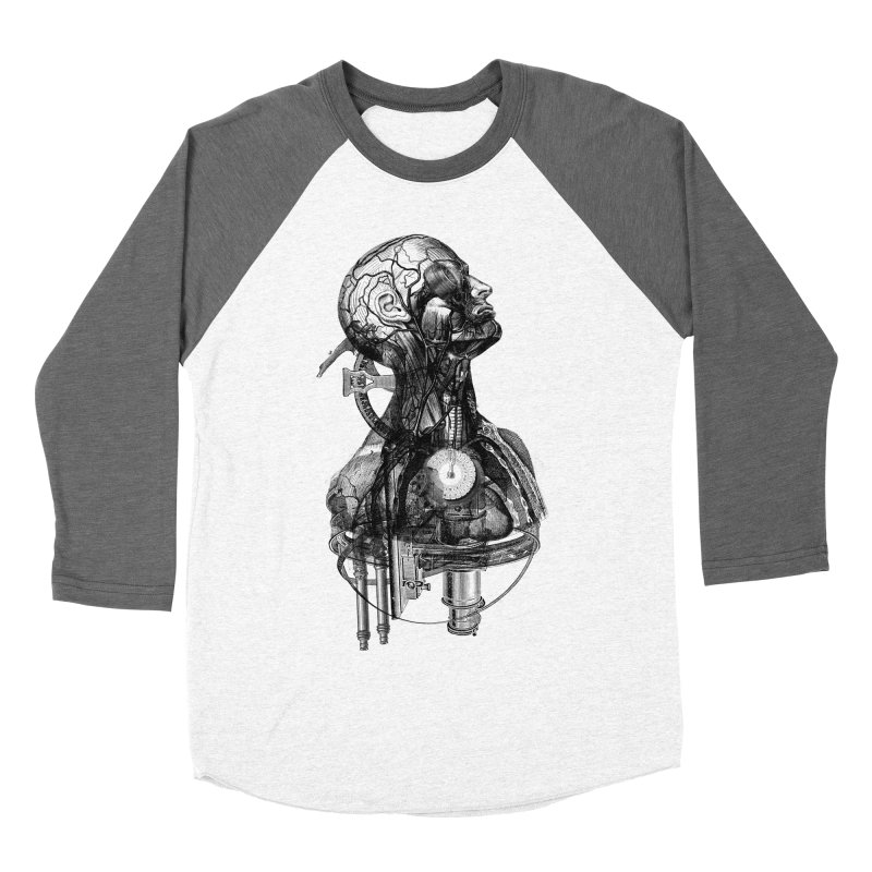 Frankenstein Men's Baseball Triblend T-Shirt by Alex Eckman-Lawn