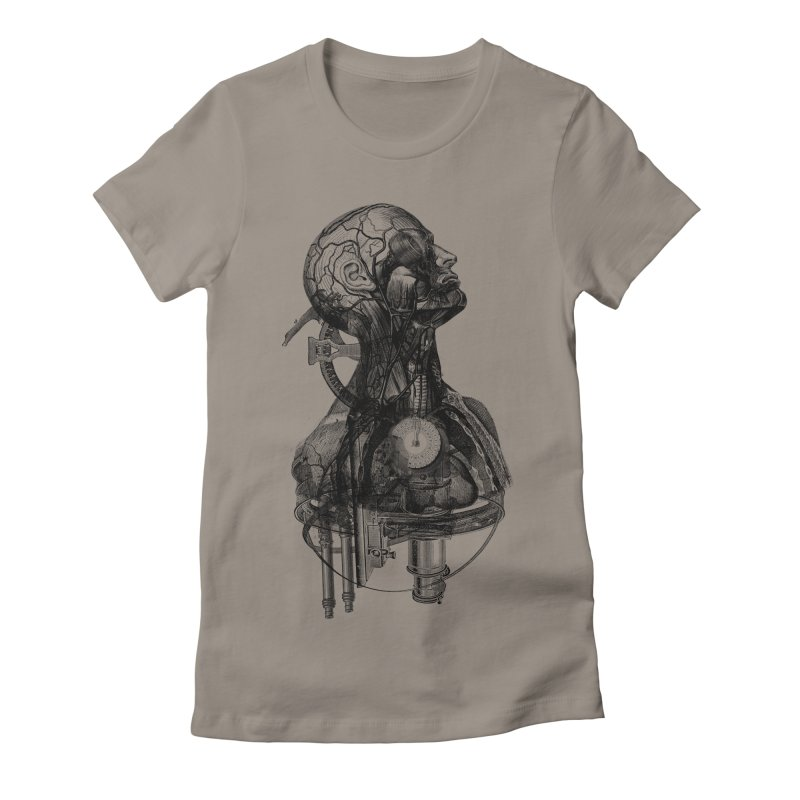 Frankenstein Women's Fitted T-Shirt by Alex Eckman-Lawn