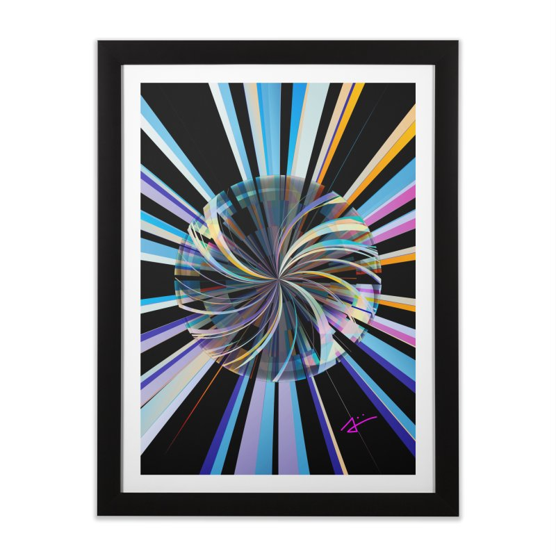 Light Bubble in Framed Fine Art Print Black by Art and Geometry