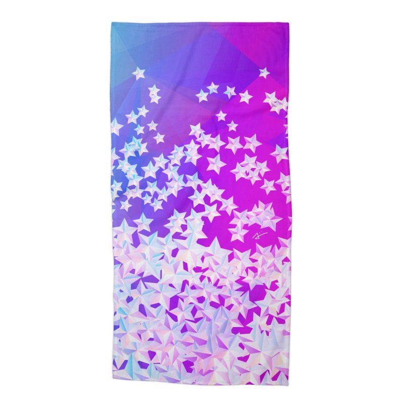 Twin Stars in Beach Towel by Art and Geometry
