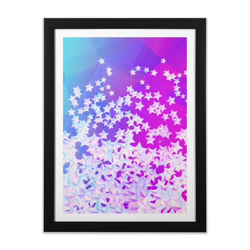 The Stars in Framed Fine Art Print Black by Alexiii's Artist Shop