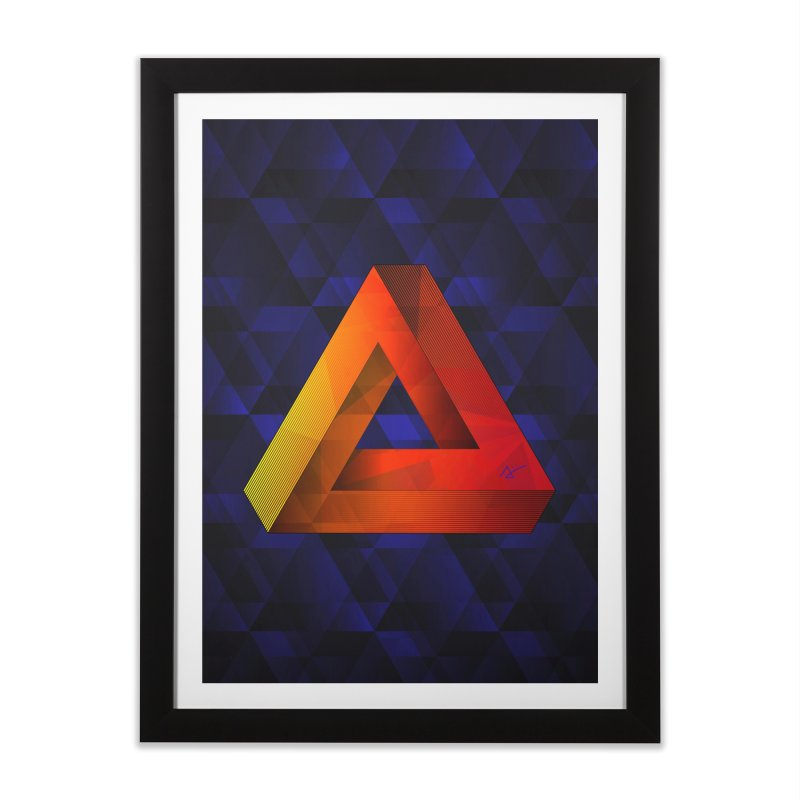 Penrose Triangle in Framed Fine Art Print Black by Art and Geometry