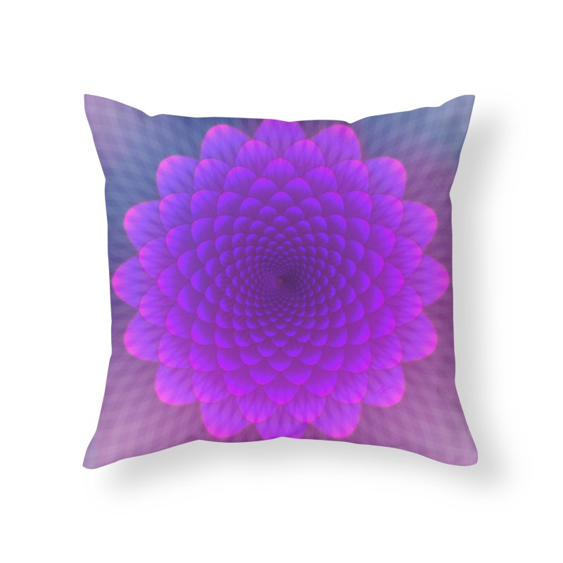 Lucky Lotus in Throw Pillow by Art and Geometry