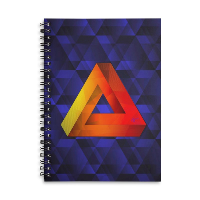 Endless Triangle in Lined Spiral Notebook by Art and Geometry