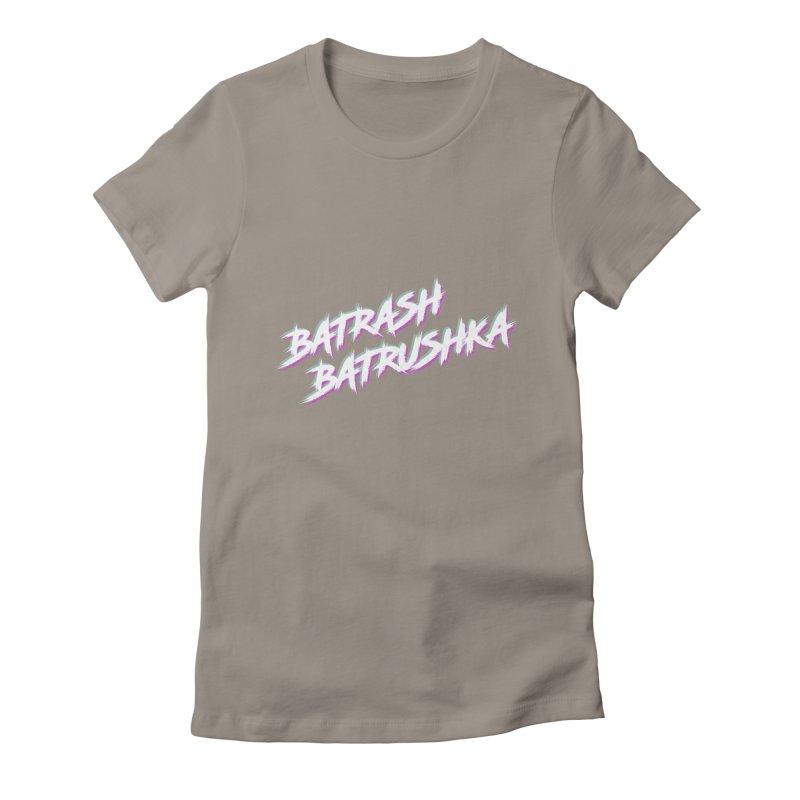 Batrashbatrushka-cyan-magenta Women's Fitted T-Shirt by Alexis Patino's shop