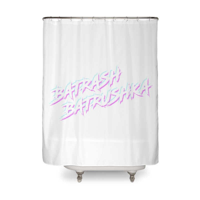 Batrashbatrushka-cyan-magenta Home Shower Curtain by Alexis Patino's shop
