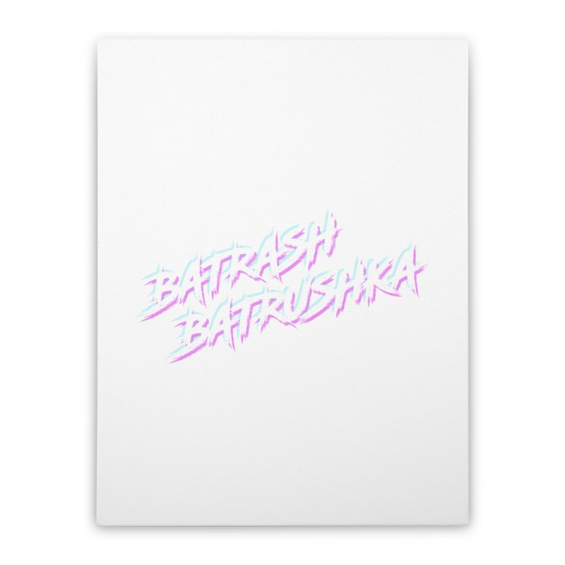 Batrashbatrushka-cyan-magenta Home Stretched Canvas by Alexis Patino's shop