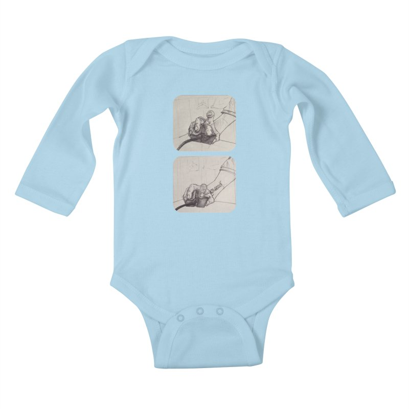 Click Me! Kids Baby Longsleeve Bodysuit by Alexis Patino's shop