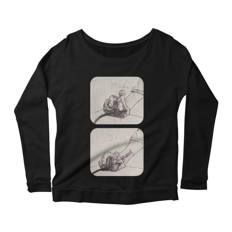 Click Me! Women's Longsleeve Scoopneck  by Alexis Patino's shop