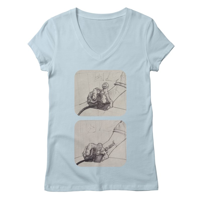 Click Me! Women's V-Neck by Alexis Patino's shop