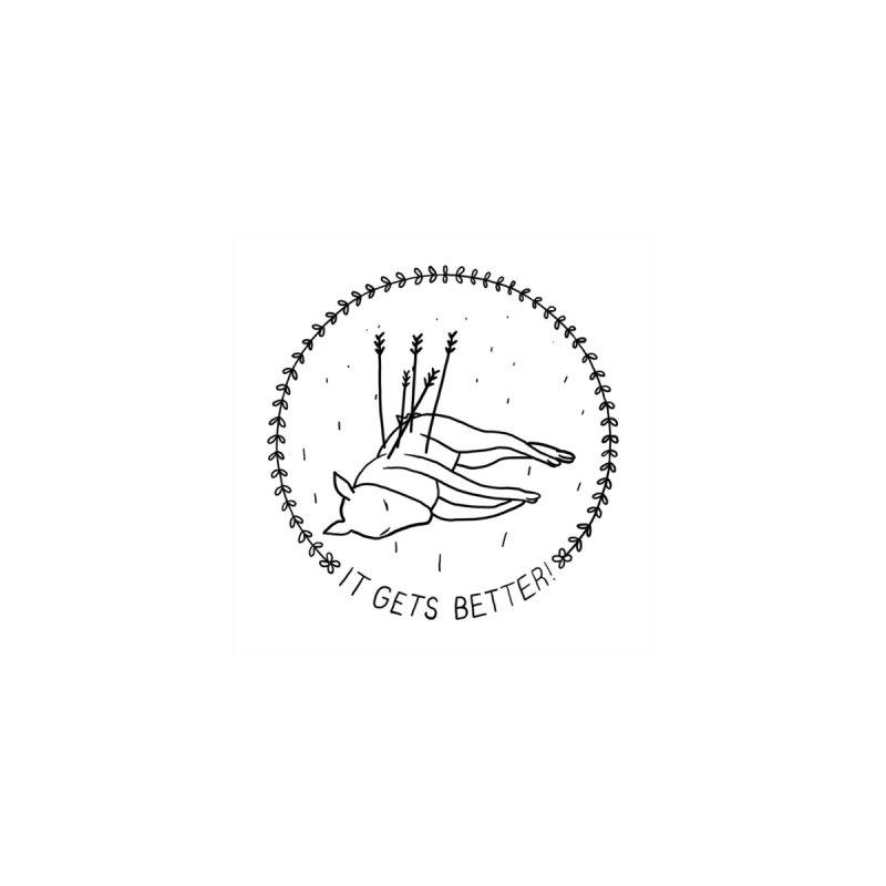 it gets better Accessories Sticker by Alex Krokus on Threadless