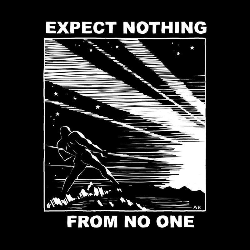 expect nothing Men's T-Shirt by Alex Krokus on Threadless