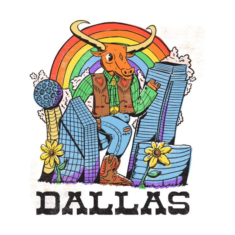 Dallas Longhorn Men's T-Shirt by alexledon's Artist Shop