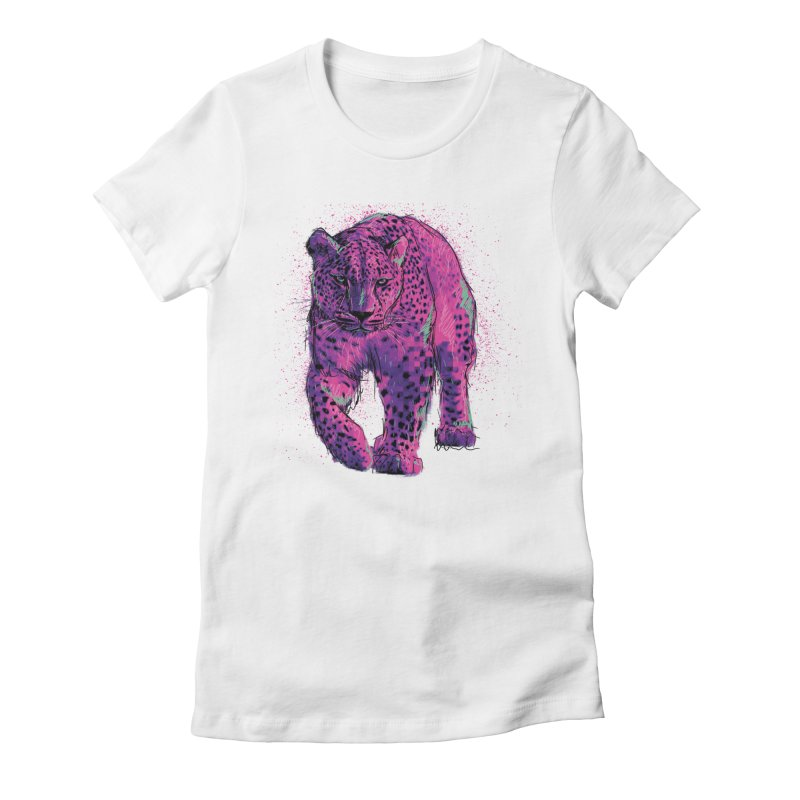 The panther colors Women's Fitted T-Shirt by alexm's Artist Shop