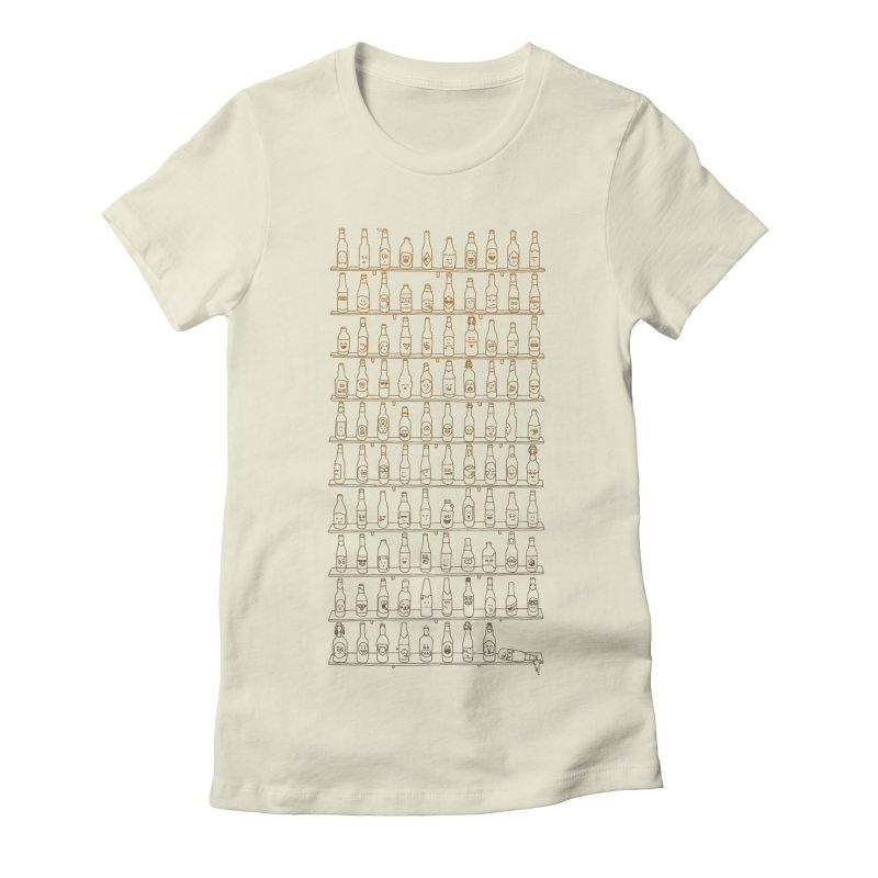 99 Bottles Women's Fitted T-Shirt by Alex MacDuff's Artist Shop