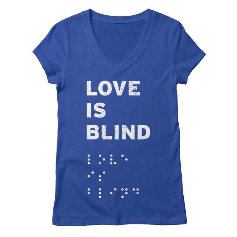 Love Is Blind Women's V-Neck by Alex MacDuff's Artist Shop