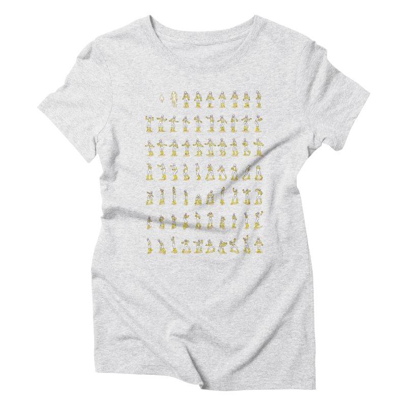 Traveling Time, Dropping Rhymes Women's Triblend T-shirt by Alex MacDuff's Artist Shop