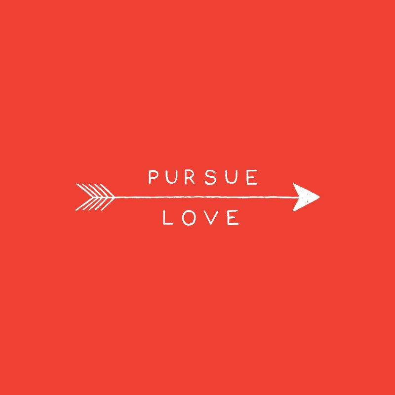 Pursue Love None  by Alex MacDuff's Artist Shop