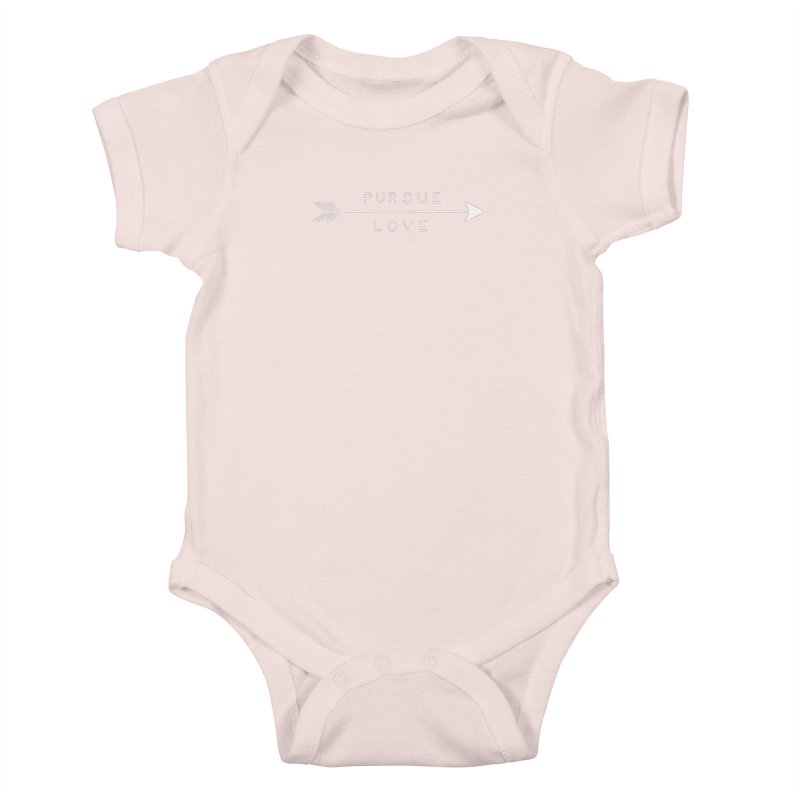 Pursue Love Kids Baby Bodysuit by Alex MacDuff's Artist Shop
