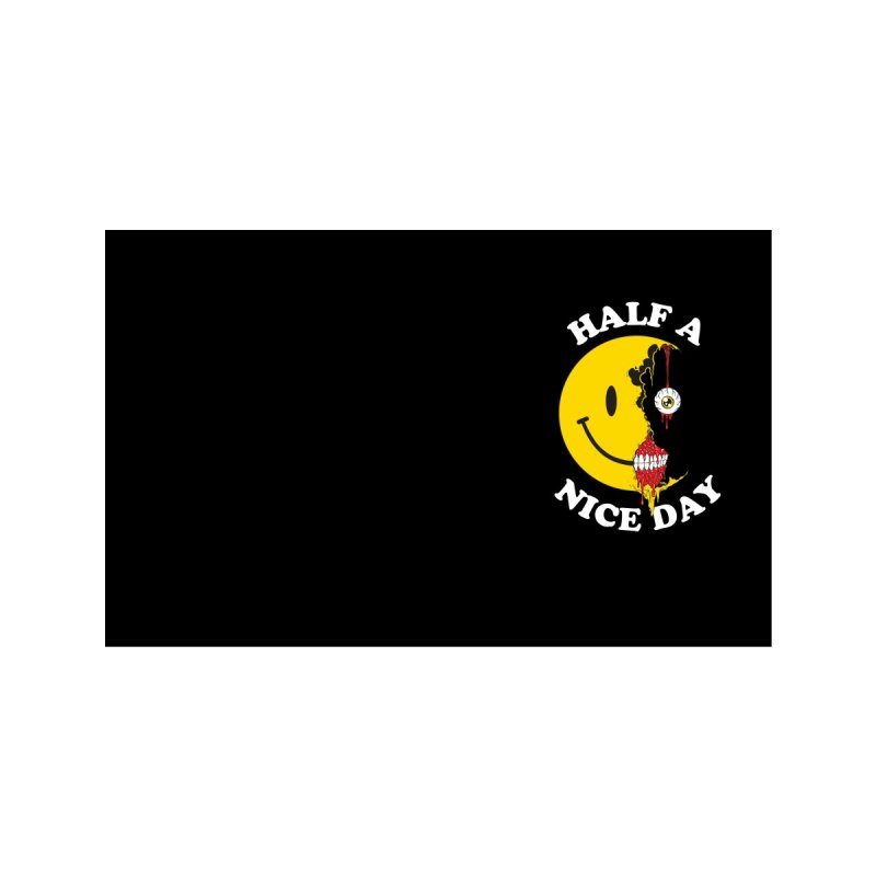 HALF A NICE DAY MASK Accessories Face Mask by Alex Pardee's BRIGHTMARES