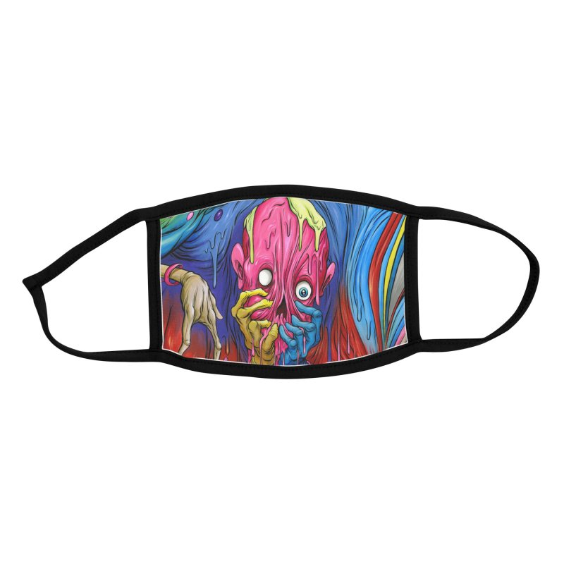 DEFENDER FACE MASK Accessories Face Mask by Alex Pardee's BRIGHTMARES