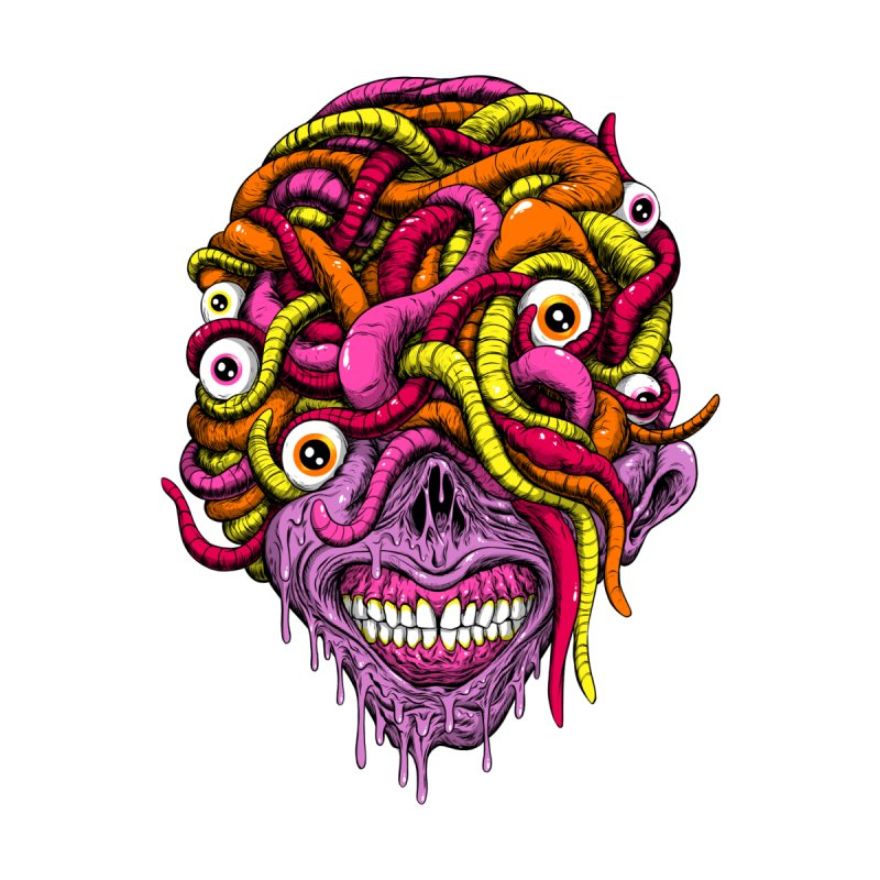 WORM KING Women's T-Shirt by Alex Pardee's BRIGHTMARES