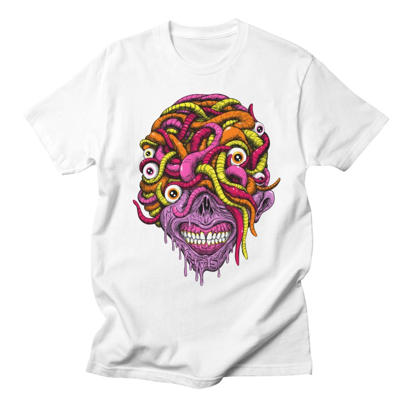 WORM KING Men's T-Shirt by Alex Pardee's BRIGHTMARES