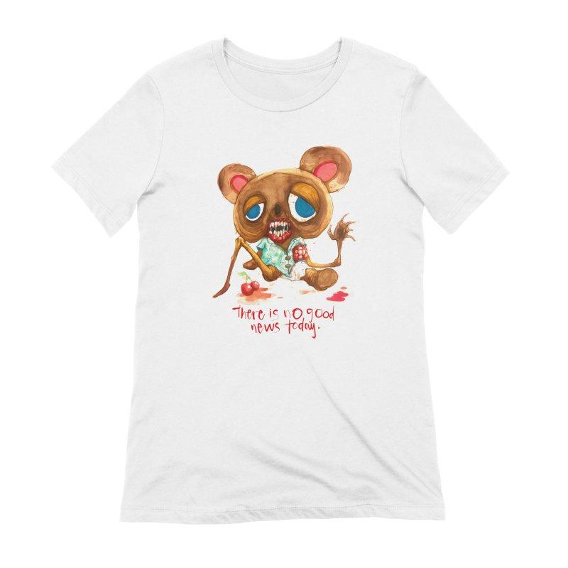NO GOOD NEWS Women's T-Shirt by Alex Pardee's BRIGHTMARES