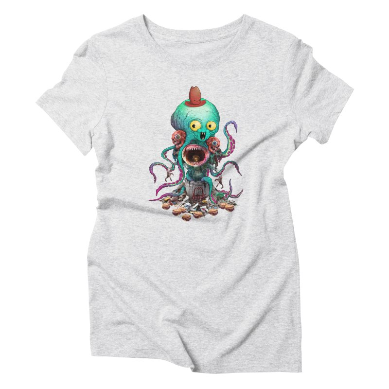 BARTLBY & BEETH (WHITE) Women's T-Shirt by Alex Pardee's BRIGHTMARES