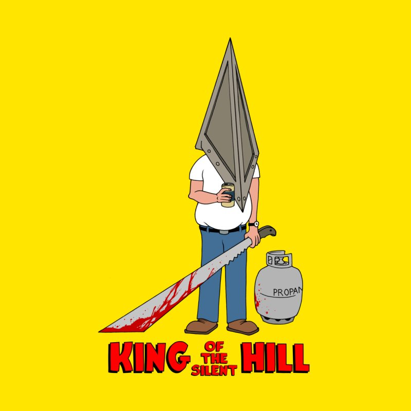 KING OF THE SILENT HILL Kids T-Shirt by Alex Pardee's Land Of Confusion