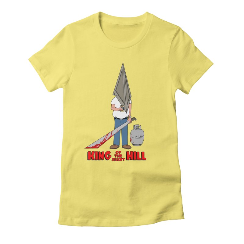 KING OF THE SILENT HILL Women's Fitted T-Shirt by Alex Pardee's Land Of Confusion