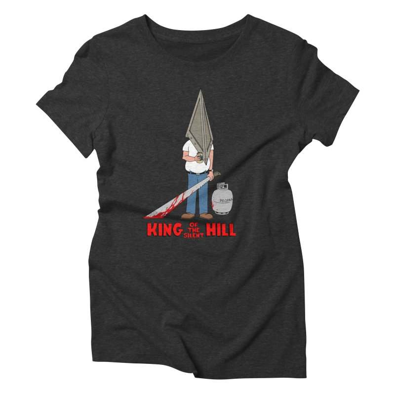 KING OF THE SILENT HILL Women's Triblend T-shirt by Alex Pardee's Land Of Confusion