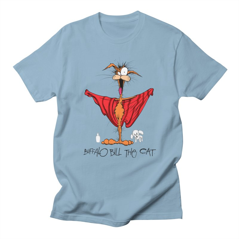 BUFFALO BILL THE CAT Men's Regular T-Shirt by Alex Pardee's Land Of Confusion
