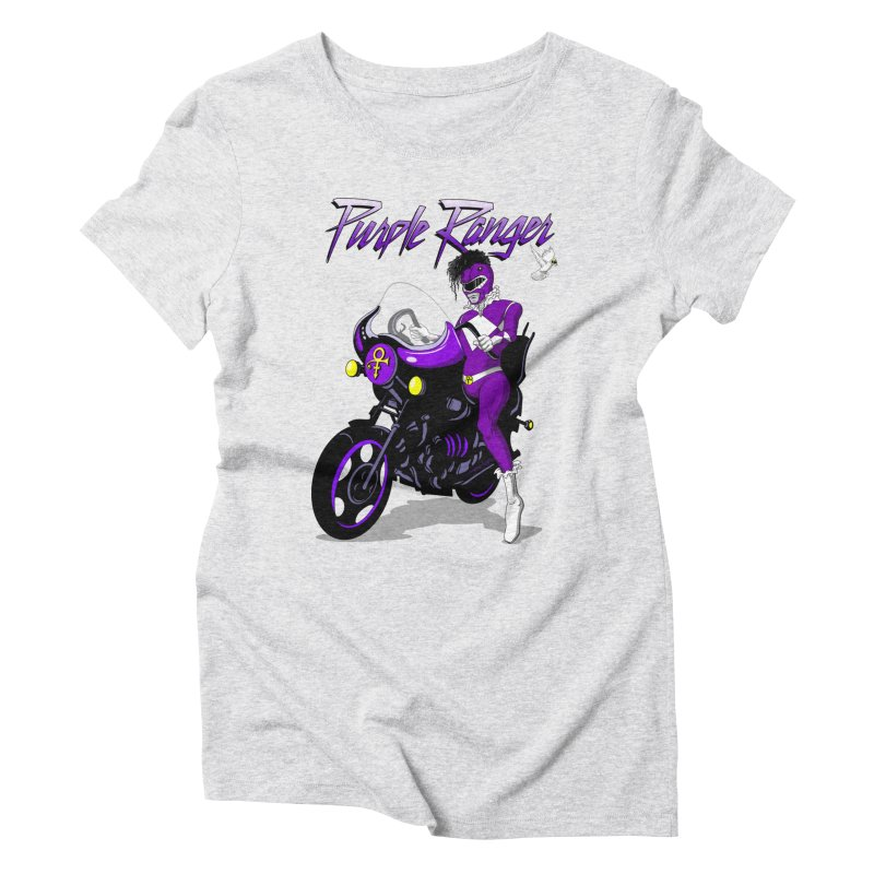 PURPLE RANGER Women's Triblend T-shirt by Alex Pardee's Land Of Confusion