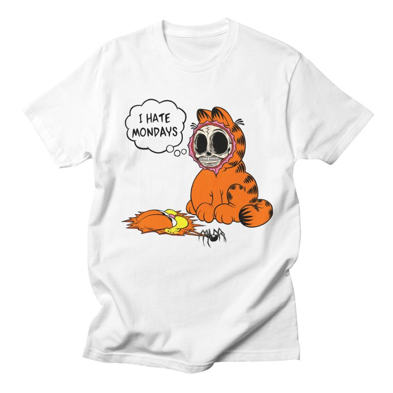I HATE MONDAYS Men's Regular T-Shirt by Alex Pardee's Land Of Confusion
