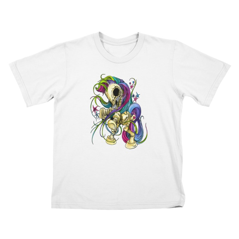 MY LITTLE BONY Kids T-Shirt by Alex Pardee's Land Of Confusion
