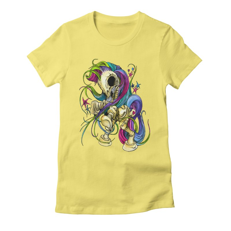 MY LITTLE BONY Women's Fitted T-Shirt by Alex Pardee's Land Of Confusion