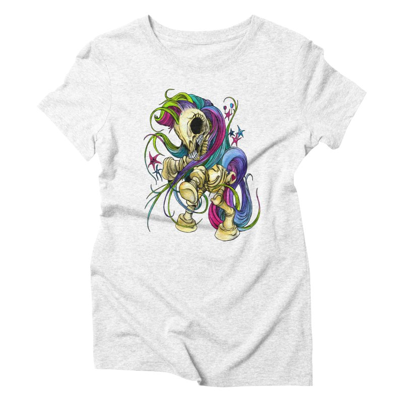 MY LITTLE BONY Women's Triblend T-shirt by Alex Pardee's Land Of Confusion