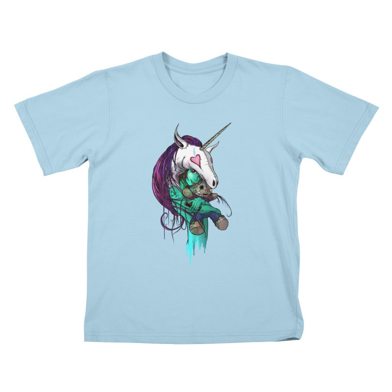 DREAMGIRL Kids T-Shirt by Alex Pardee's Land Of Confusion