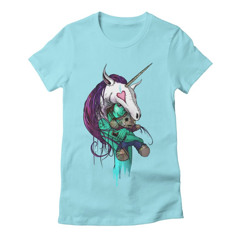 DREAMGIRL Women's Fitted T-Shirt by Alex Pardee's Land Of Confusion