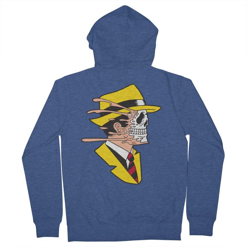 DICK TRACING Men's French Terry Zip-Up Hoody by Alex Pardee's Land Of Confusion