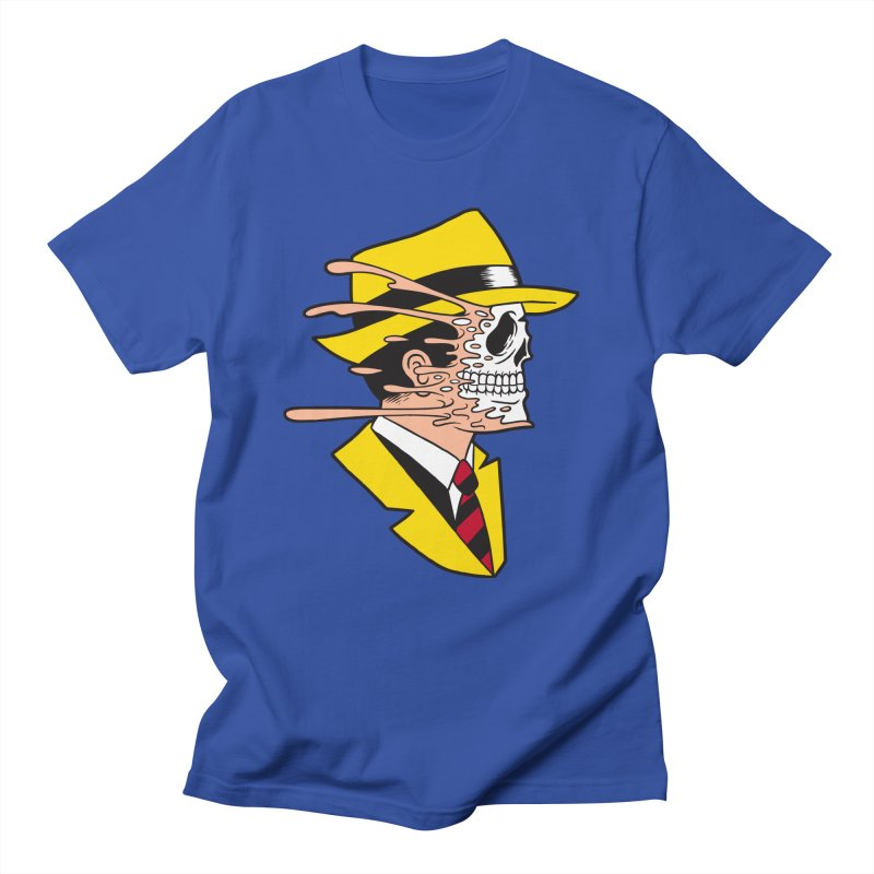 DICK TRACING in Men's Regular T-Shirt Royal Blue by Alex Pardee's Land Of Confusion