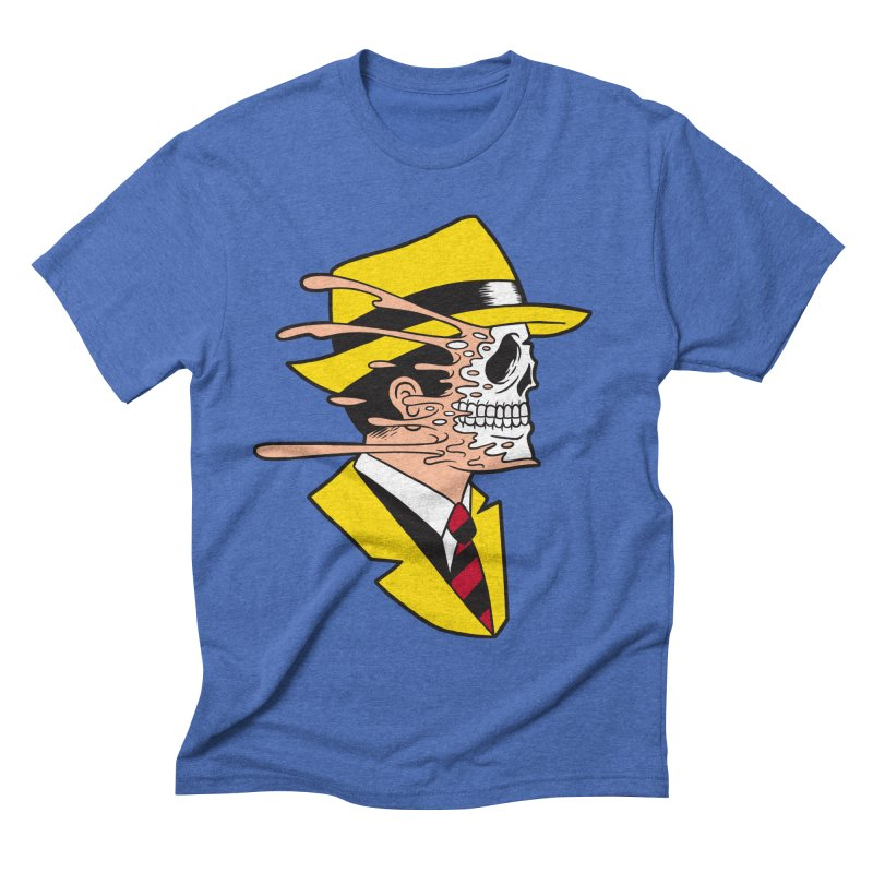 DICK TRACING Men's Triblend T-shirt by Alex Pardee's Land Of Confusion
