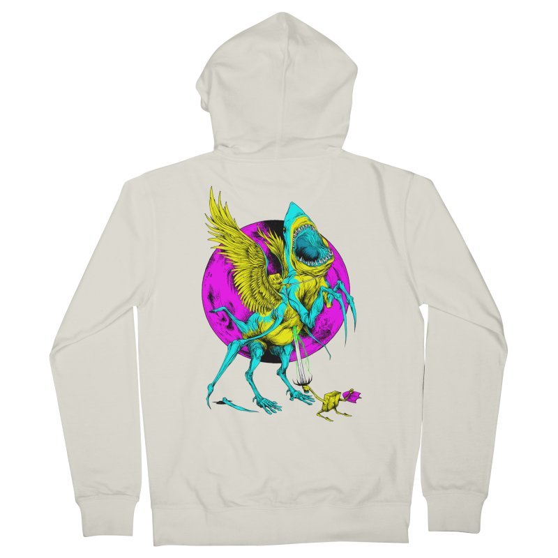 SHARKASUS Men's French Terry Zip-Up Hoody by Alex Pardee's Land Of Confusion