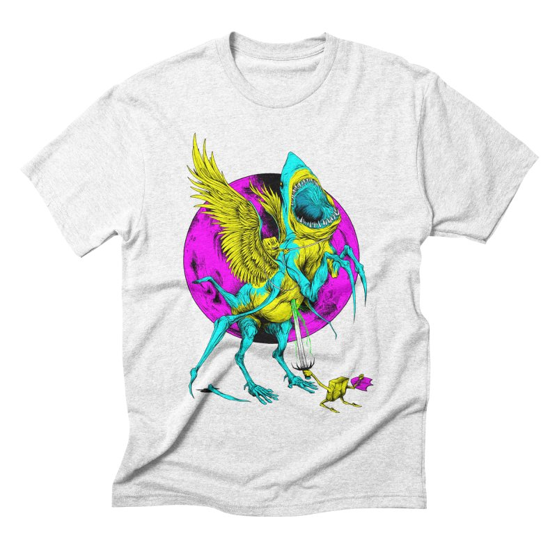 SHARKASUS Men's Triblend T-shirt by Alex Pardee's Land Of Confusion