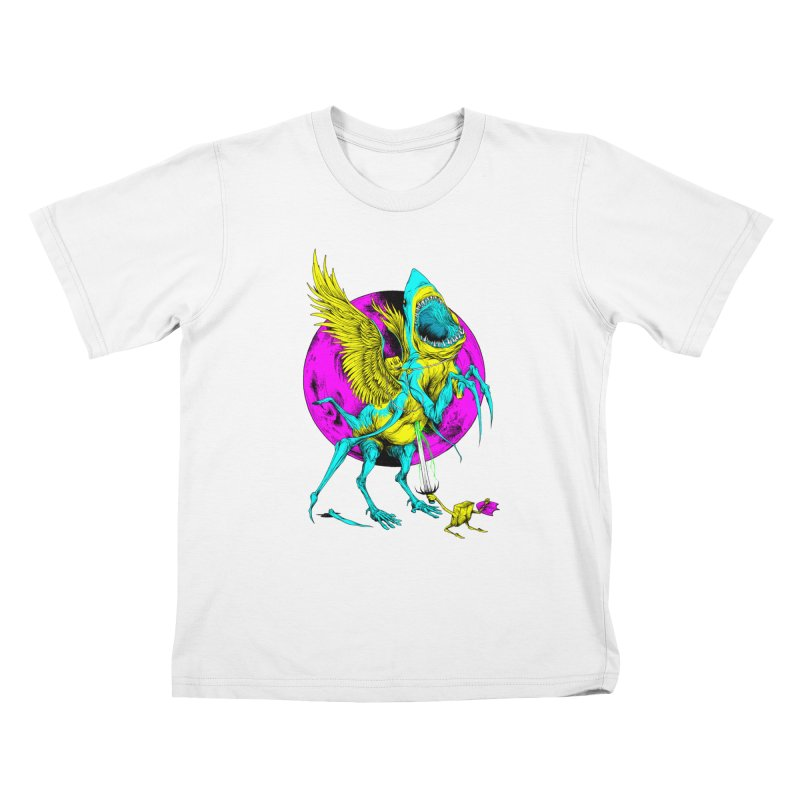 SHARKASUS Kids T-Shirt by Alex Pardee's Land Of Confusion