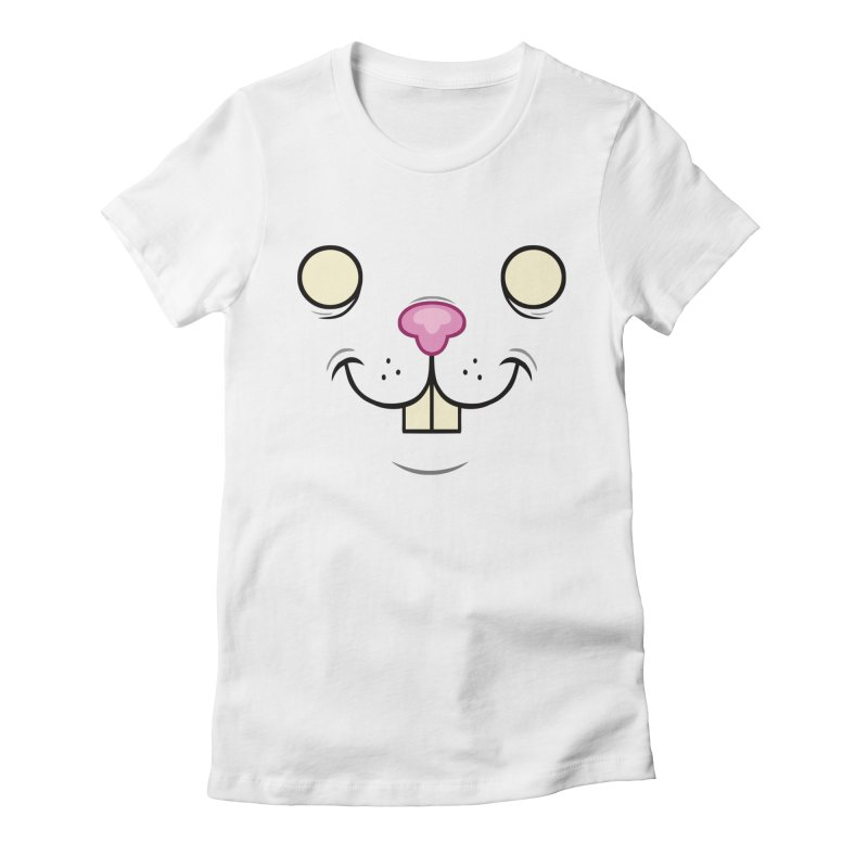 BUNNYWITH in Women's Fitted T-Shirt White by Alex Pardee's Land Of Confusion