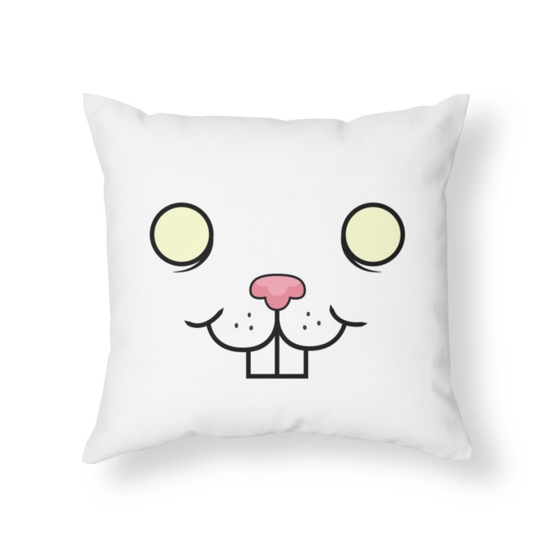 BUNNYWITH Home Throw Pillow by Alex Pardee's BRIGHTMARES